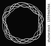round wicker frame  vine ... | Shutterstock .eps vector #1355466566