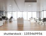 modern white office interior...   Shutterstock . vector #1355469956