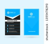 vertical double sided business... | Shutterstock .eps vector #1355478293