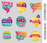shop sale and promotion... | Shutterstock .eps vector #1355483150