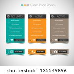 web price shop panel with space ... | Shutterstock . vector #135549896