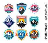 set of adventure outdoor... | Shutterstock .eps vector #1355504633