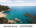 seafront of lloret de mar  spain | Shutterstock . vector #135550580