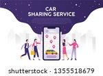 modern city mobile... | Shutterstock .eps vector #1355518679