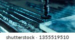 industrial water jet cutter... | Shutterstock . vector #1355519510