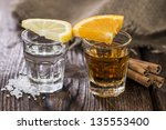 tequila gold and silver with... | Shutterstock . vector #135553400
