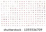 very big collection of vector... | Shutterstock .eps vector #1355536709