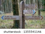 four way signpost  countryside... | Shutterstock . vector #1355541146