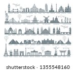 icons world tourist attractions ... | Shutterstock .eps vector #1355548160