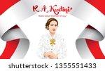 kartini day  r a kartini the... | Shutterstock .eps vector #1355551433