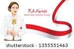 kartini day  r a kartini the... | Shutterstock .eps vector #1355551463