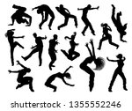 a set of men and women street... | Shutterstock .eps vector #1355552246