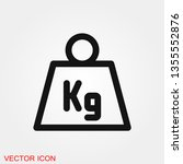 weight icon vector sign symbol... | Shutterstock .eps vector #1355552876