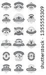 camping logos templates vector... | Shutterstock .eps vector #1355555309