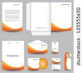 stationery template design | Shutterstock .eps vector #135555650