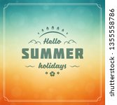 summer holidays label or badge... | Shutterstock .eps vector #1355558786