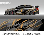 car decal design vector.... | Shutterstock .eps vector #1355577506