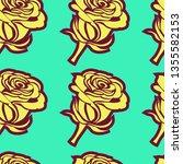 vector seamless floral pattern... | Shutterstock .eps vector #1355582153