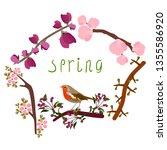 vector illustration of blooming ...   Shutterstock .eps vector #1355586920