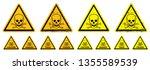 stop danger do not enter or... | Shutterstock .eps vector #1355589539