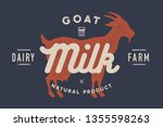 milk  goat. logo with goat... | Shutterstock .eps vector #1355598263