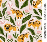 vector seamless pattern with... | Shutterstock .eps vector #1355612006