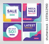 abstract sale banners for... | Shutterstock .eps vector #1355612900