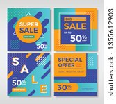 abstract sale banners for... | Shutterstock .eps vector #1355612903