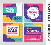 abstract sale banners for... | Shutterstock .eps vector #1355612906
