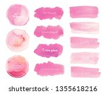 pink watercolor background ... | Shutterstock .eps vector #1355618216
