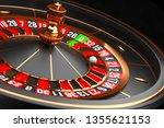 luxury casino roulette wheel on ... | Shutterstock . vector #1355621153