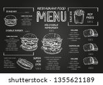 burger menu poster design on... | Shutterstock .eps vector #1355621189