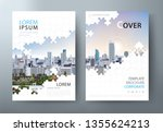 annual report brochure  flyer... | Shutterstock .eps vector #1355624213