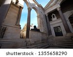 cathedral of st. domnius back... | Shutterstock . vector #1355658290