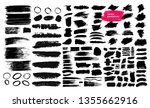 set of black brush strokes ... | Shutterstock .eps vector #1355662916