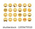 set of big eyes emoticon vector ...   Shutterstock .eps vector #1355675510