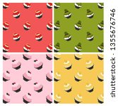 set of bingsu pattern background | Shutterstock .eps vector #1355676746