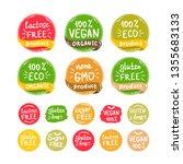 vegan  healthy food... | Shutterstock .eps vector #1355683133