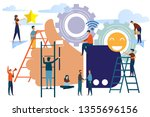 people best performance.... | Shutterstock .eps vector #1355696156