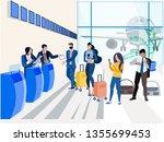 registration for the plane ...   Shutterstock . vector #1355699453