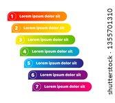 banner line stripe of colorful... | Shutterstock .eps vector #1355701310