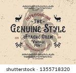 """apache crew"". retro font.... | Shutterstock .eps vector #1355718320"