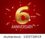 template logo 6 years... | Shutterstock .eps vector #1355728919