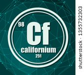 californium chemical element.... | Shutterstock .eps vector #1355732303