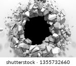 dark destruction cracked hole... | Shutterstock . vector #1355732660