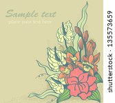 decorative background with... | Shutterstock .eps vector #135573659