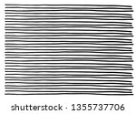 hand drawn horizontal stripes... | Shutterstock .eps vector #1355737706