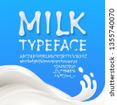 milk uppercase and lowercase... | Shutterstock .eps vector #1355740070