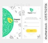 app design template of organic...   Shutterstock .eps vector #1355752556