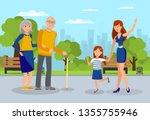 granddaughters meet... | Shutterstock .eps vector #1355755946